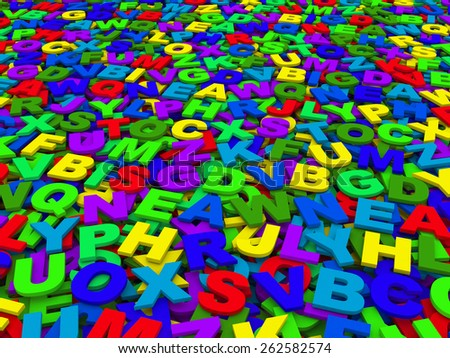 letters of the English alphabet. background - stock photo