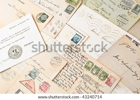 letters with stamps