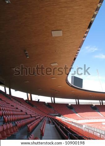 Letzigrund stadium in Zurich -- site of Euro 2008 - stock photo