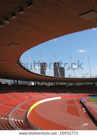 Letzigrund stadium in Zurich -- site of Euro 2008 - stock photo