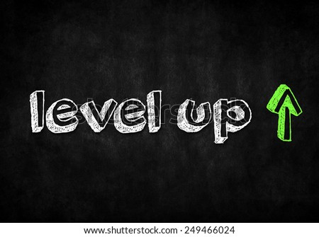 Level up - stock photo