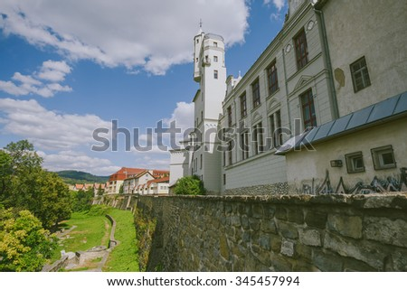 LEVOCA, SLOVAKIA - AUGUST 20, 2015: : Levoca Old Town Wall in summer day. Levoca is a town in the Presov Region of eastern Slovakia. In 2009 was added by UNESCO to its World Heritage List.