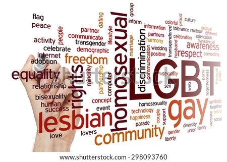 LGBT concept word cloud background - stock photo