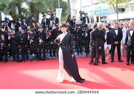 Li Yuchun attends the 'Little Prince' Premiere during the 68th annual Cannes Film Festival on May 22, 2015 in Cannes, France. - stock photo