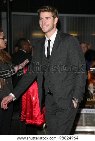 Liam Hemsworth arriving at the European Premiere of 'The Hunger Games' at the O2 Arena, London. 14/03/2012 Picture by: Alexandra Glen / Featureflash - stock photo