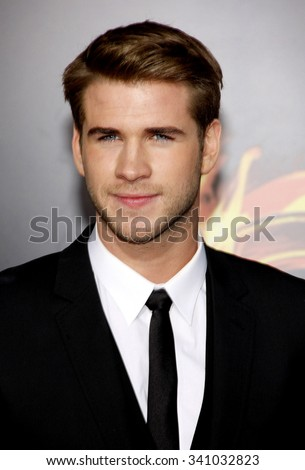 "Liam Hemsworth at the Los Angeles Premiere of ""The Hunger Games"" held at the Nokia Theatre L.A. Live, California, United States on March 12, 2012."