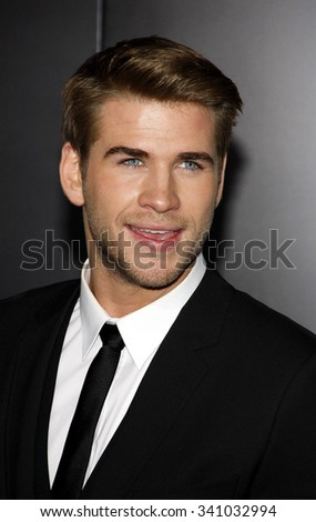 "Liam Hemsworth at the Los Angeles Premiere of ""The Hunger Games"" held at the Nokia Theatre L.A. Live, California, United States on March 12, 2012. - stock photo"