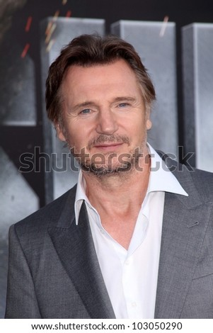 "Liam Neeson at the ""Battleship"" Los Angeles Premiere, Nokia Theatre L.A. Live, Los Angeles, CA 05-10-12"