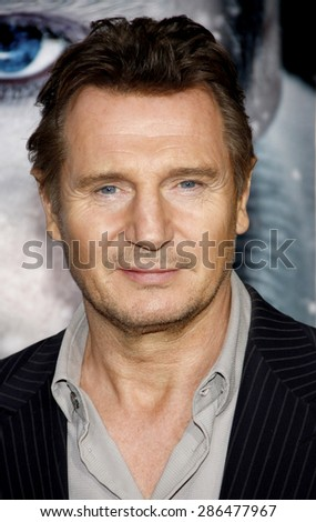 Liam Neeson at the Los Angeles premiere of 'The Grey' held at the Regal Cinemas L.A. Live in Los Angeles on January 11, 2012.