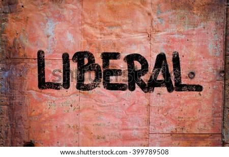 Liberal Concept - stock photo