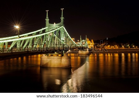 Liberty Bridge in Budapest - stock photo