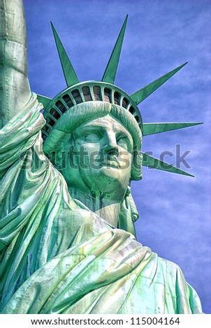 liberty island-america - stock photo