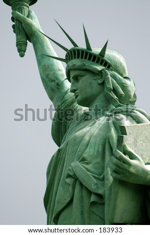 Liberty Series: Sie View Head and shoulder - stock photo