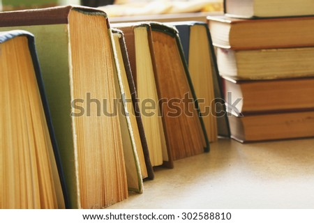 Librarian background - stock photo