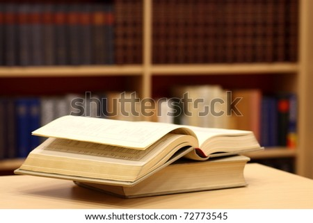 Library abstract - stock photo