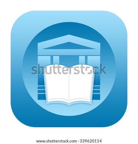 Library icon - stock photo