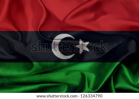 Libya grunge waving flag - stock photo