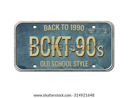 License plate.Old car number.  - stock photo