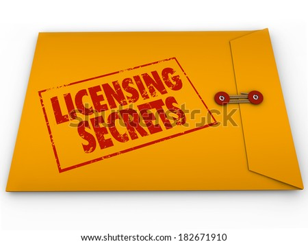 Licensing Secrets Envelope Official Authorization Information - stock photo