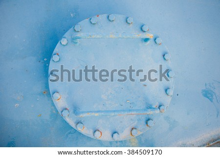 Lid of water tanks, Water treatment plants of the Waterworks in Thailand. - stock photo