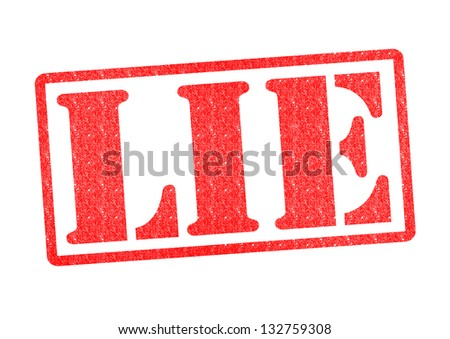 LIE Rubber Stamp over a white background. - stock photo