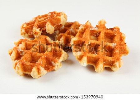 liege waffles - stock photo