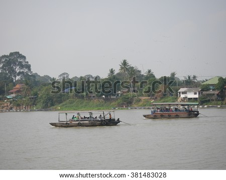 Life along The river in Thailand