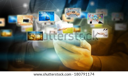 Life and Modern Technology - stock photo