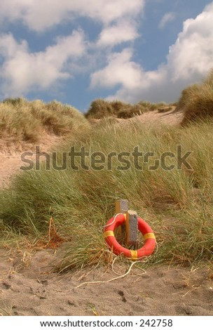 Life buoy - stock photo