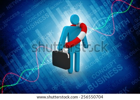Life buoy for business - stock photo