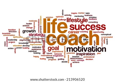Life coach concept word cloud background - stock photo