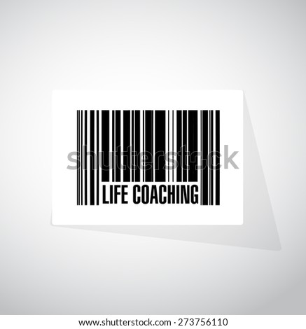 life coaching barcode sign icon concept illustration design over white - stock photo