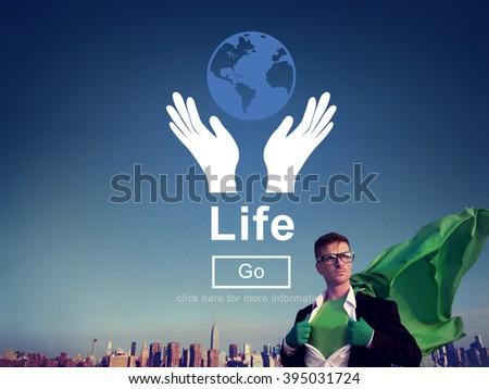 Life Ecosystem Conserve Environment Concept - stock photo
