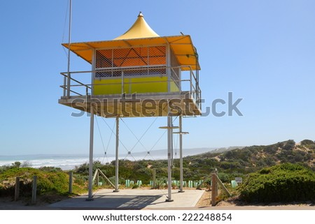 Life Guard Tower, in South Australia.