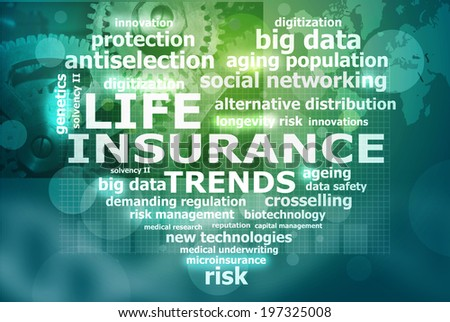 life insurance trends - stock photo