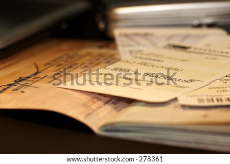 Life of a frequent flyer: passport & boarding pass