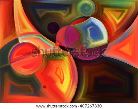 Life of forms series. Arrangement of abstract forms and shape on the subject of art, painting, design and education - stock photo