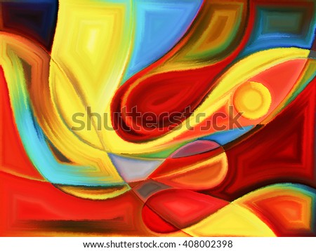 Life of forms series. Backdrop composed of abstract forms and shape and suitable for use in the projects on art, painting, design and education - stock photo