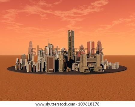 Life on Mars Computer generated 3D illustration - stock photo