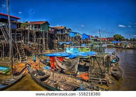 Life on the floating river in Cambodia
