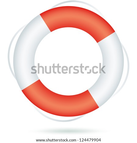 Life ring icon isolated on white.