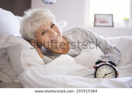 Life's too short to spend time only in bed  - stock photo