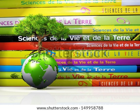 life  science and earth to school - stock photo