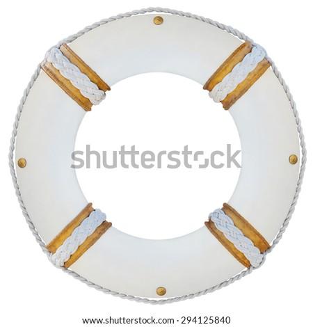 lifebelt, lifebuoy isolated on white high detailed - stock photo