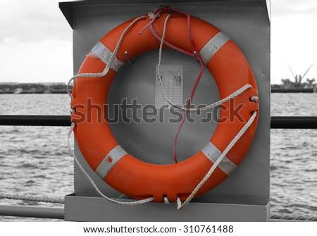 lifebuoy - stock photo