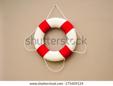 Lifebuoy and Life ring - stock photo