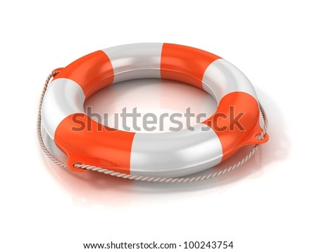 lifebuoy 3d illustration - stock photo