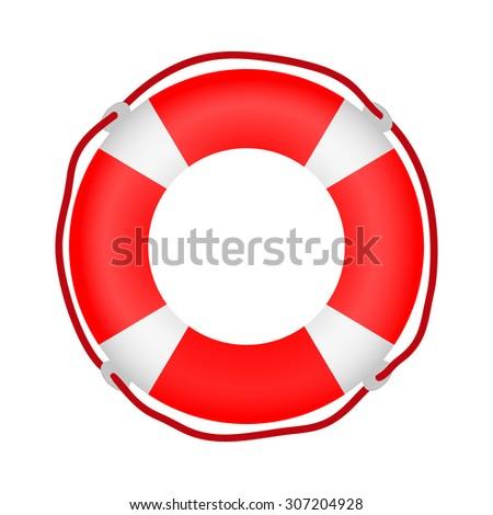 lifebuoy icon - stock photo