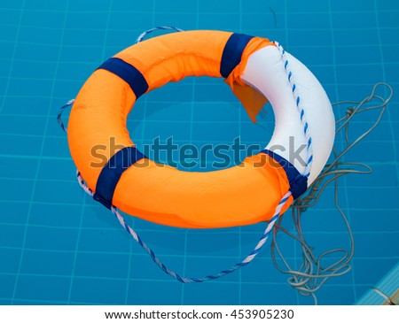 lifebuoy in pool