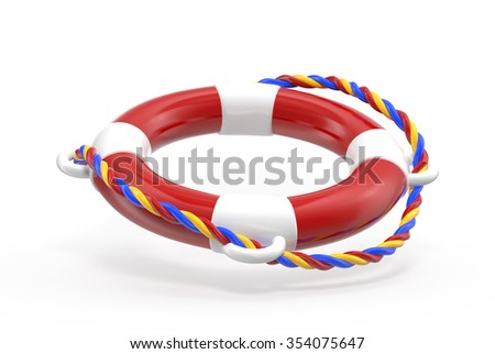 lifebuoy isolated on a white background.